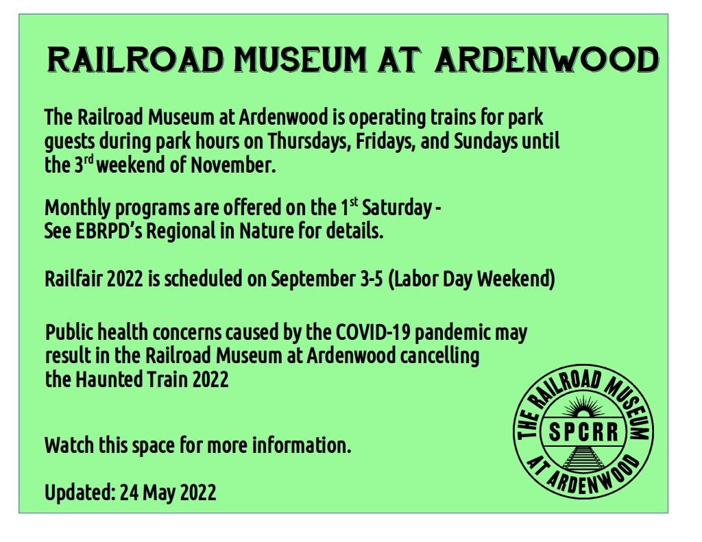 Railroad Museum at Ardenwood